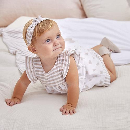 Vestido combinado recém nascida menina