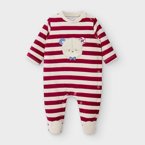 Pijama riscas recém nascido menino