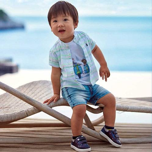 Bermudas ganga bebé menino