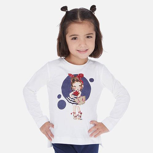 Camisola manga comprida boneca menina
