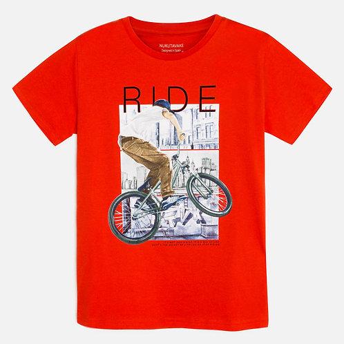 T-shirt bici menino