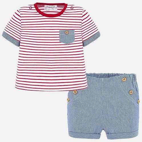 Conjunto camisola bolso e calção curto bebé recém nascido