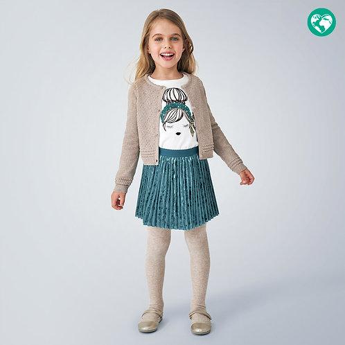Bolero tricot estrutura menina