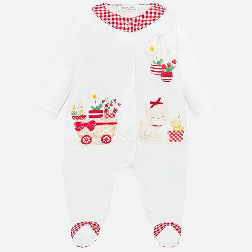 Pijama comprido desenhos bebé recém nascida