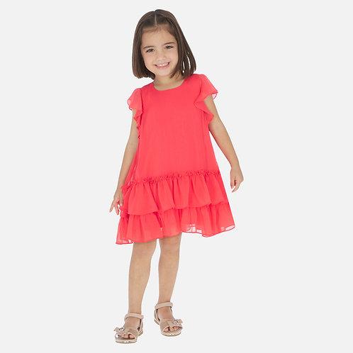 Vestido folho menina
