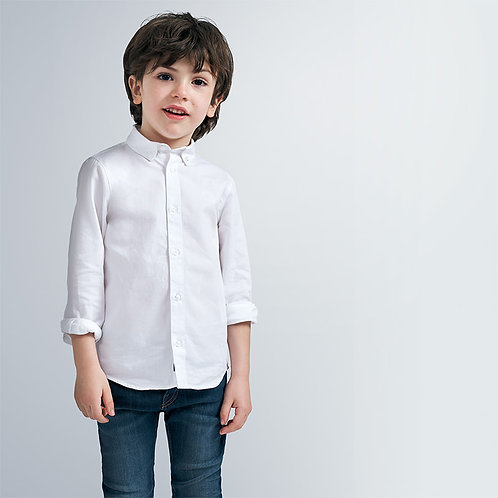 Camisa básica manga comprida menino