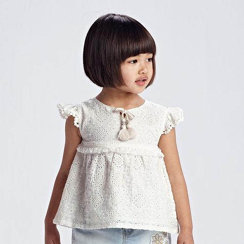 Blusa chiffon bordado menina