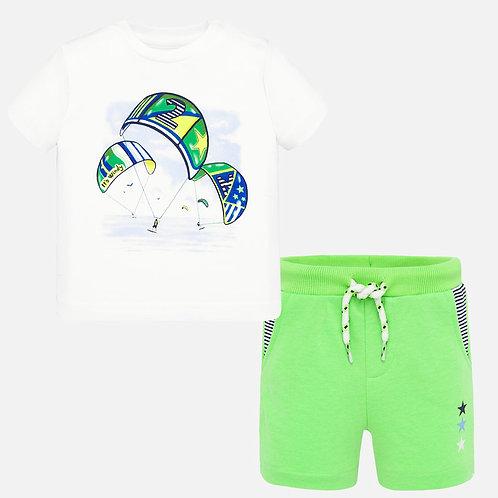 Conjunto t-shirt e bermudas bebé menino