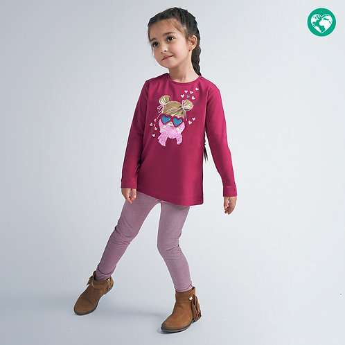 Leggings estampados menina
