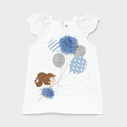 Vestido malha serigrafia bebé menina