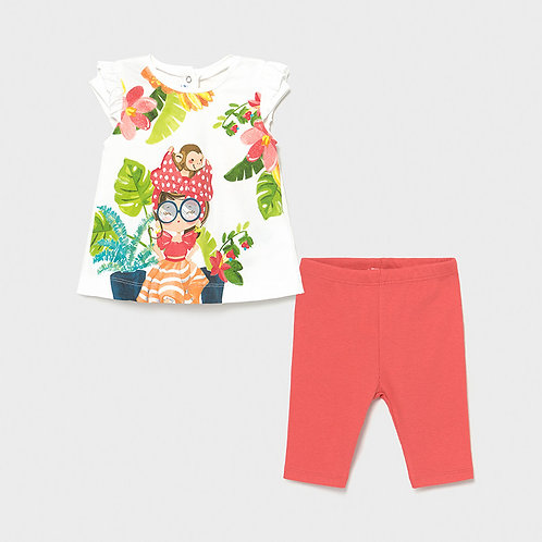 Conjunto leggings Ecofriends bebé menina