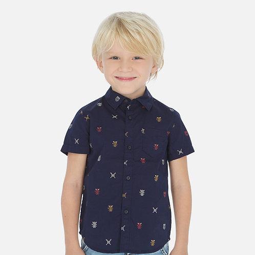 Camisa manga curta estampada menino