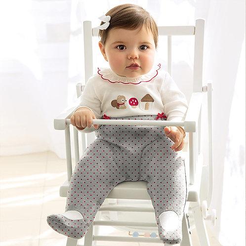 Pijama combinado recém nascido menina