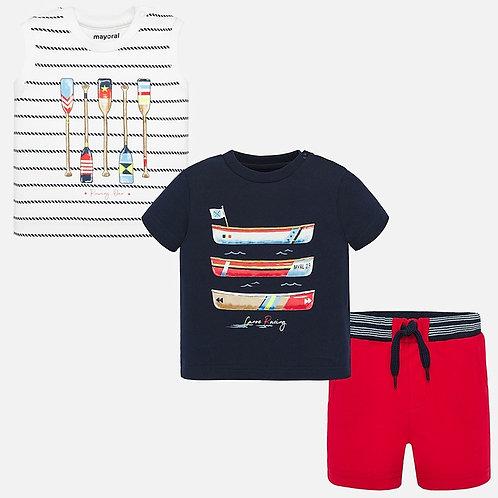 Conjunto t-shirts e calções bebé menino