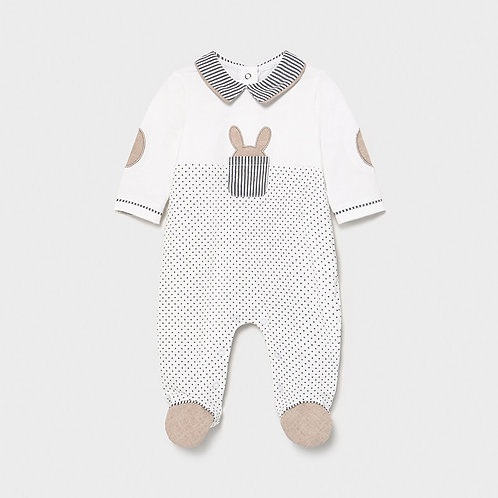 Pijama malha combinada recém nascido menino
