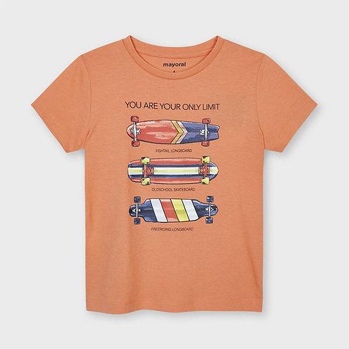T-shirt ECOFRIENDS skateboards menino