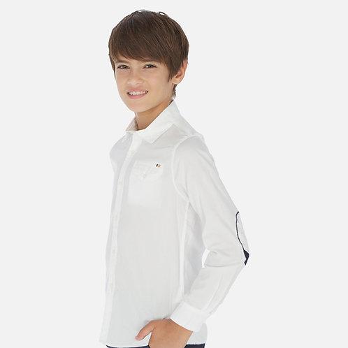 Camisa manga comprida contrastes menino