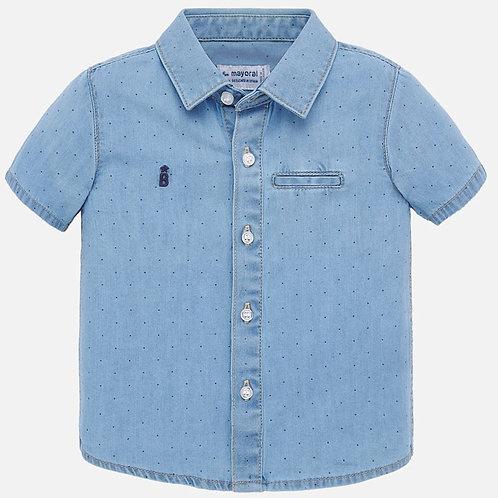 Camisa manga curta ganga bebé menino