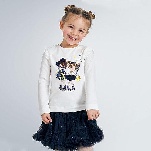 Camisola manga comprida bonecas menina