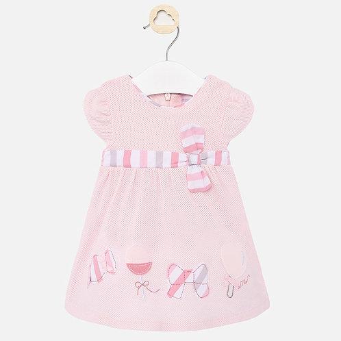 Vestido desenhos laço bebé menina recém nascida