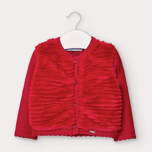 Casaco trico peluche
