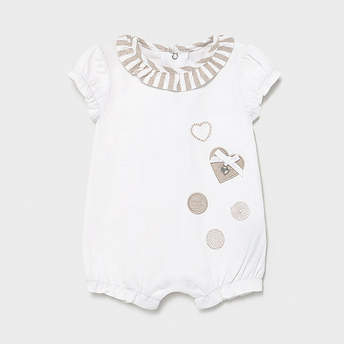 Pijama curto recém nascida menina