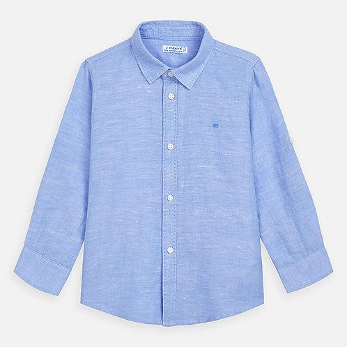 Camisa manga comprida linho menino