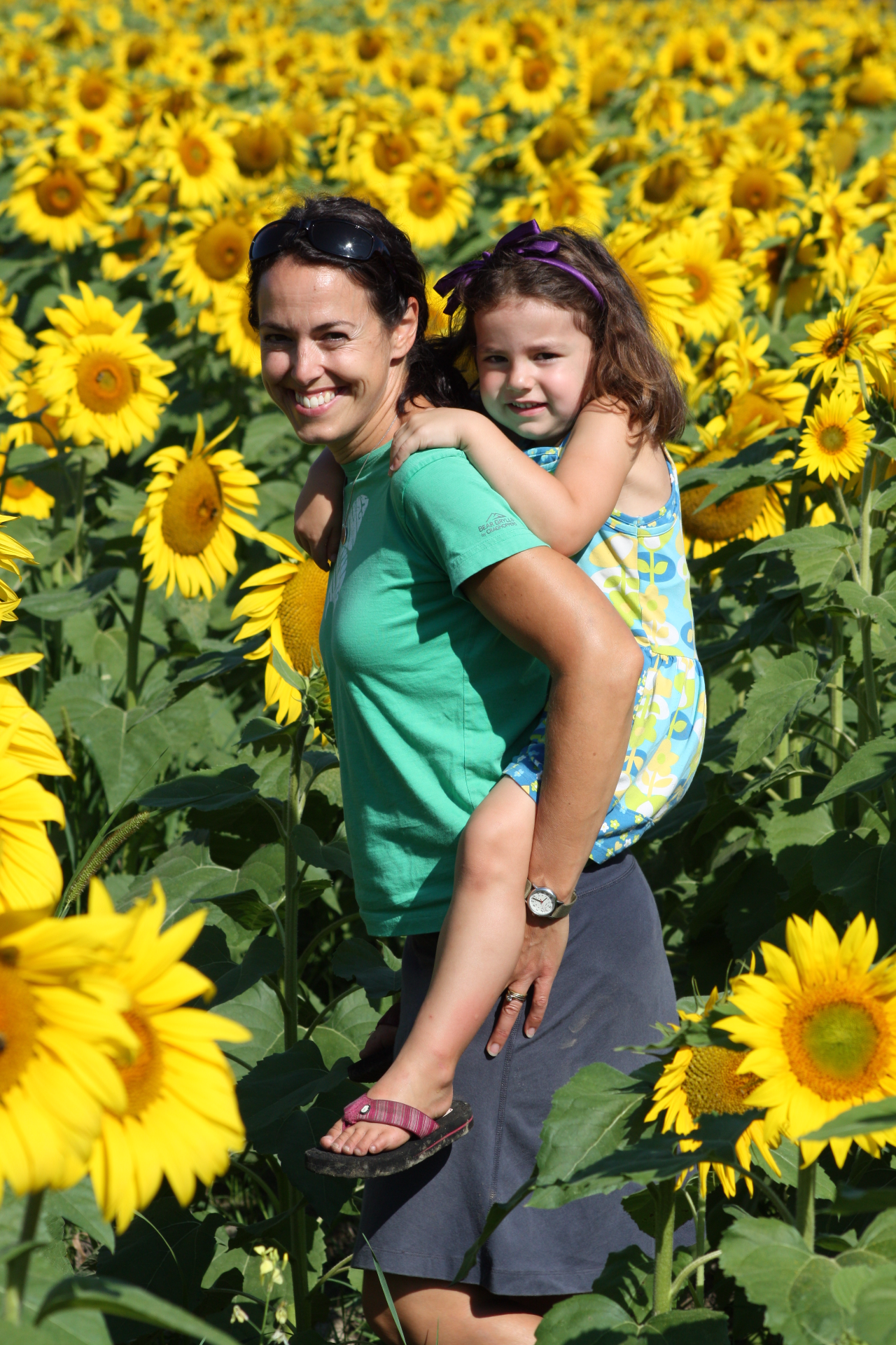 Pilar & Sahali in the sunflowers