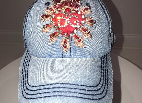 D & G, Lt Blue Denim Baseball Hat