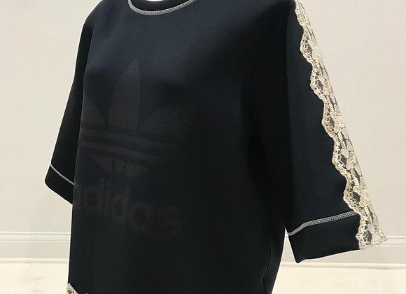 ADIDAS, S/S Navy & Creme Lace, Neoprene Shirt