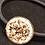 Thumbnail: Hair Band, Elastic, Circle, Gold/Clear Crystals