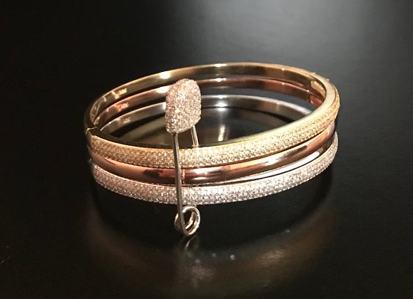 Bracelet, Bangles, Cubic Zirconia, Safety Pin