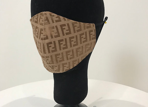 FENDI, Lt. Brown Brocade, GLAMical face mask