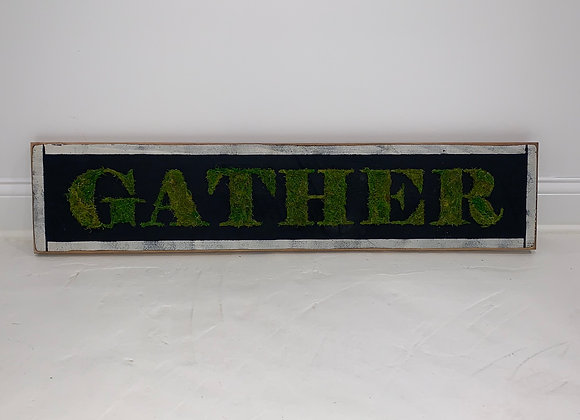 GATHER, Wood, Moss, Wall Art