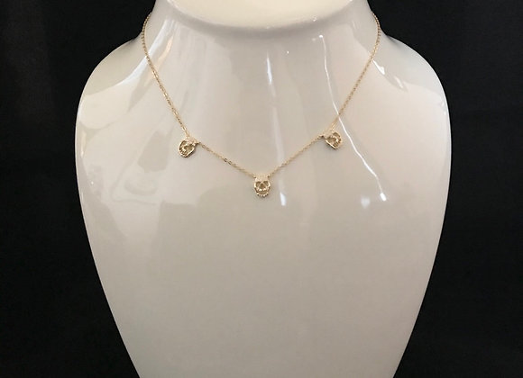 Necklace, 3 Skulls