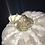 Thumbnail: Pumpkin, White & Gray Cross, clear rhinestone gold trim
