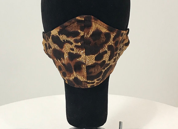Leopard w/ swarovski crystals, GLAMical face mask