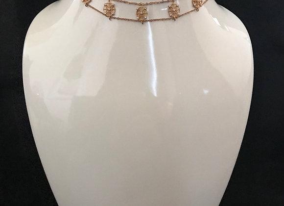Necklace, Choker, Cubic Zirconia, Round Star