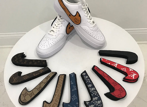 NIKE AF1 Sneakers, interchangeable swoosh