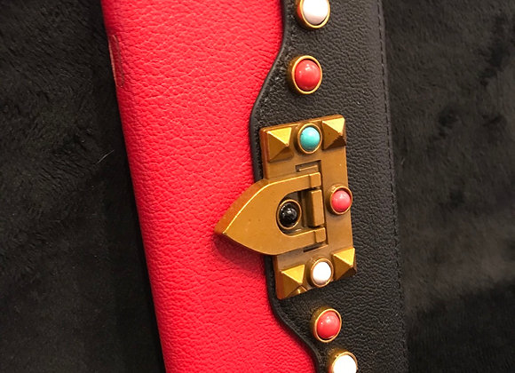 CELL PHONE CASE, Valentino, Red/Black, Purse, iphone 8 Plus