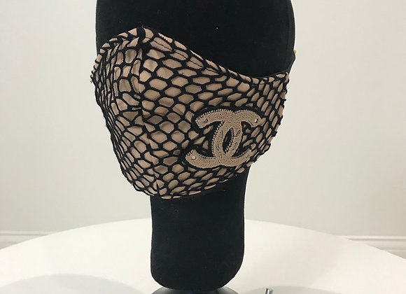 CHANEL, Fishnet Tan, Chenille Patch, GLAMical face mask