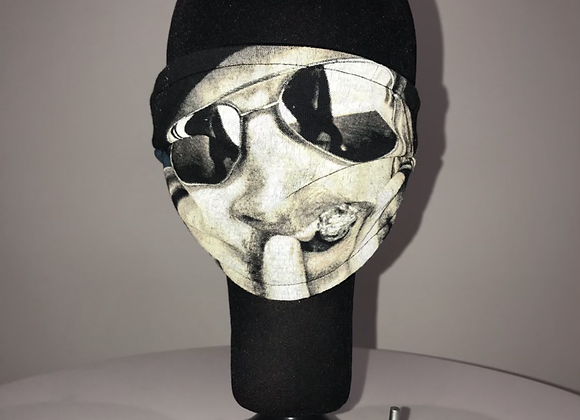 KID ROCK, Graphic T-shirt, Black, Sunglasses,  GLAMical face mask