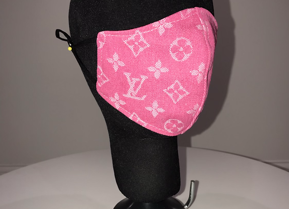 LOUIS VUITTON, Dark Pink Brocade, GLAMical face mask