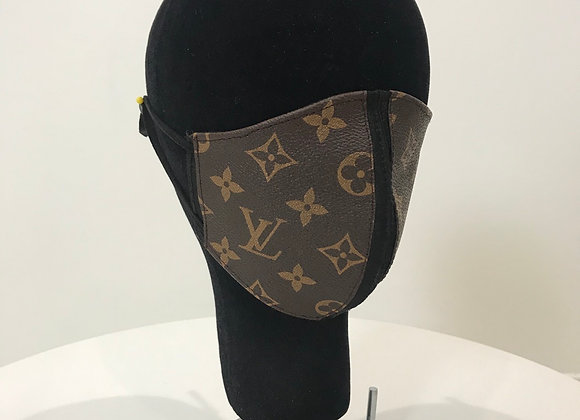 LOUIS VUITTON, Coated Monogram Canvas, Dark Brown, face mask