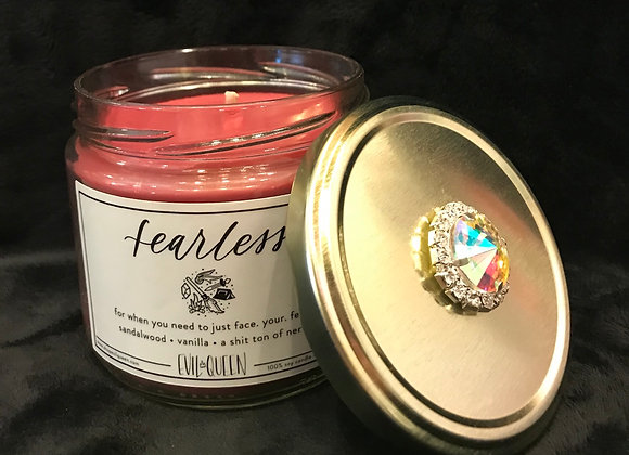 """Candle, Scented, """"Fearless"""", Sandalwood / Vanilla"""