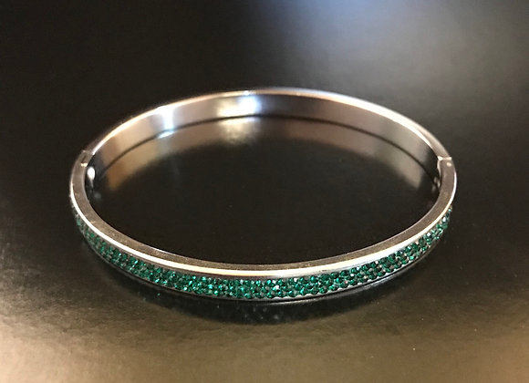 Bracelet, Bangle, Green Crystals