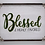 """Thumbnail: """"Blessed & Highly Favored"""", Moss, Wood, Wall Art, Swarovski and pearl detail"""
