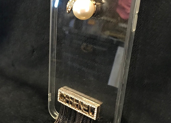CELL PHONE CASE, Chanel, Clear, Bumble Bee, iphone 8 Plus