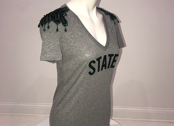 MICHIGAN STATE, S/S T-Shirt, epaulettes on shoulders