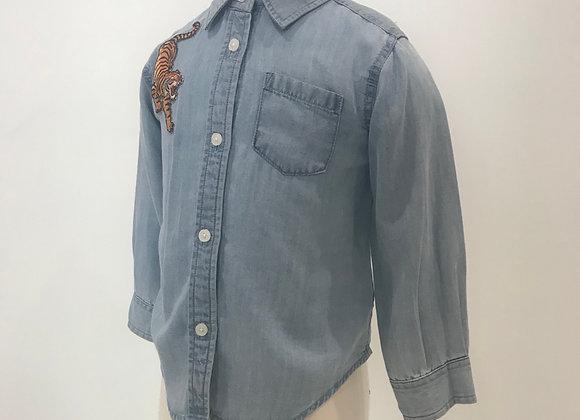 Detroit Tigers, DL1961, L/S Blue Denim Shirt, Tiger Patch